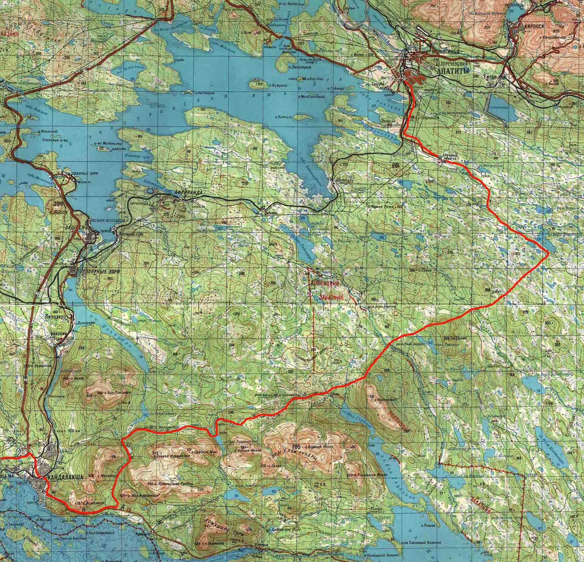 Кандалакша карта схема